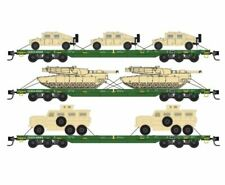 Micro Trains N Scale DODX 'Cascade Green' 3pk w/Military 993 01 613 - SPECIAL!!