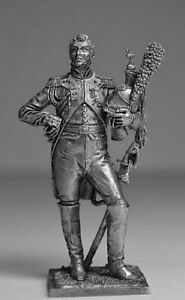NAPOLEONIC WARS Dragoon officer Metal Figure 1/32 Tin Toy Soldiers