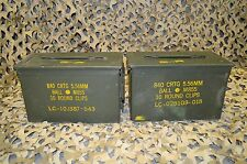 2 PACK 50 Cal M2A1 AMMO CAN COMPLETELY REFURBISHED GREAT CONDITION FREE SHIPPING