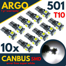 T10 Sidelight Interior Number Plate Led White Bulbs 501 Xenon Side Light Bulbs