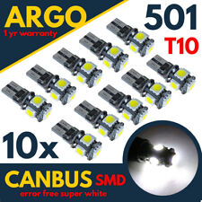 T10 CAR WHITE BULBS LED 501 ERROR FREE CANBUS XENON W5W SIDE LIGHT BULB 5 SMD UK