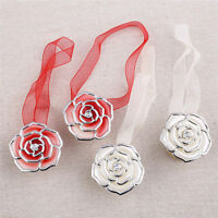 2x Plastic Flower Magnetic Curtain Holder Decoration Clip On Tie Backs Supplies
