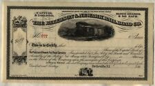 The Paterson & Newark Railroad Co. Stock Certificate New Jersey