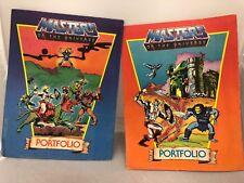 Lot of 2 He-Man Masters Of The Universe Portfolio Folders MOTU 1983