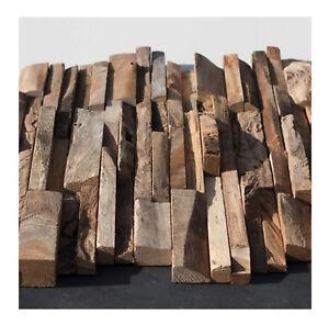 1 Teak Mosaikfliese HO-003 Holz Verblender Fliesen Lager Stein-mosaik Herne NRW