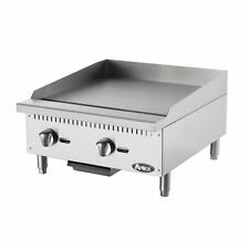 Commercial 24-Inch Stainless Steel Manual Griddle, Atosa ATMG-24