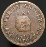 John Nuttall Deansgate Manchester, Tea Dealer Grocer Farthing Token | KM Coins