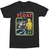 IT Pennywise You'll Learn To Float Too Horror Movie Scary Clown T Shirt 12-29