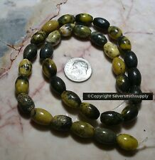 """15"""" Yellow turquoise (jasper) 1/2 smooth oval beads apprx 32pcs 12x8mm bs022"""