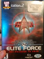 Star Trek: Voyager Elite Force PS2 Complete (Sony PlayStation 2, 2001)