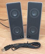 Genuine Logitech (S-0194B) USB External Wired Computer Speakers Only **READ**