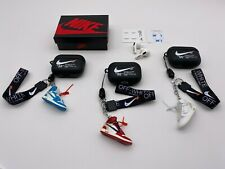 Off-White Inspired AirPods PRO BLACK Case w/ Lanyard Earbuds Sticker SET/SETS