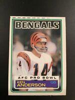 1983 Topps #232 KEN ANDERSON Bengals AFC Pro Bowl Print ERROR Vintage LOOK