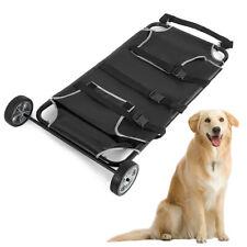 45x27'' Animal Stretcher Pet Trolley Pet Bed 2 Castors 250lb Capacity Mesh Style