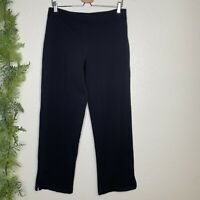 Soft Surroundings Pull On Pants Casual Solid Black Stretch Elastic Waist Size M