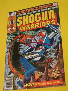 1979 SHOGUN WARRIORS #9 MARVEL COMICS WAR BENEATH THE WAVES !