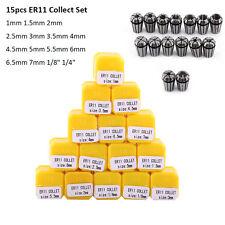 15Pcs ER11 Precision Spring Collet Set For CNC Milling Lathe Tool Workholding SG