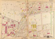 1907, G.W. BAIST, WASHINGTON D.C. SOLDIER'S HOME PARK, COPY PLAT ATLAS MAP 23x32