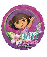 17 Inch Happy Birthday Dora The Explorer Balloon