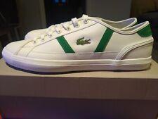 Lacoste Sideline lace-up plimsolls trainers court shoe uk10