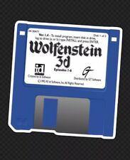 "Wolfenstein 3D Old School Classic Video Game Shooter Floppy Disk 3"" Cool Sticker"