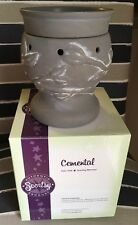 """Scentsy Gray """"Cemental"""" Full-size Warmer-Retired-Hard To Find"""