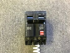 GENERAL ELECTRIC GE GFI CIRCUIT BREAKER 20 AMP 120/240 2 POLE THQB2120GFT