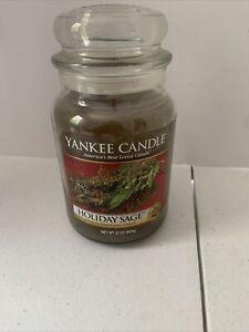 Yankee Candle Returning Favorite HOLIDAY SAGE 22oz Large Jar, Burns Up to 150hrs