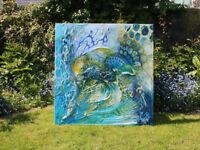 Moderne Malerei Abstrakt Öl Acryl Struktur Gemälde Bild XXL von Bozena Ossowski