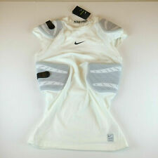 Nike Mens Pro Hyperstrong 4-Pad Football Top White 838431-100 Size Large
