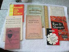 8 Vintage Tool Catalogs/ Ephemera - K & E, Planet Jr, Starrett, Ames (Ice Tools)