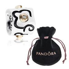 Pandora Life's Path Silver, 14K Gold & Diamond Charm 790419D + Free Pouch