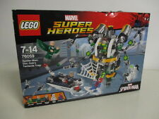 LEGO MARVEL SUPER HEROES 76059 SPIDER MAN DOCK'S OCK'S TENTACLE TRAP damaged box