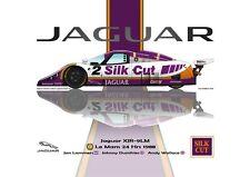 Print on Canvas Jaguar XJR-9LM 1988 #2 Lammers Dumfries Wallace Vert. 160 x 120