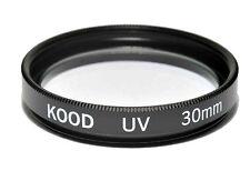Vidrio óptico Kood UV Filtro 30mm hecha en Japón