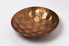 Tom Dixon Large 38cm Round Hex Bowl - Copper Hammered Polish Eclectic Handmade