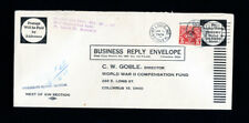US Cover 1949 Postage Due $5 WWII Compensation Fund Rare