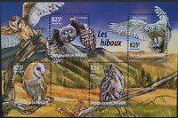 Niger 2015 /Birds - Owls / 4v minisheet MNH