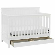 Storkcraft Davenport 5 in 1 Convertible Crib with Drawer in White