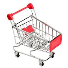 Mini Supermarket Handcart Shopping Utility Cart Mode Storage Toy Red New E0Xc