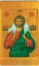 "Orthodox Icon Prayer Card -Christ the Good Shepherd(2.2"" x 3.4"") Durable Plastic"
