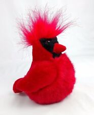 "Mint 2011 Wild Republic Authentic Call Bright Red Cardinal Bird Stuffed Plush 6"""