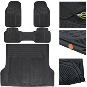 Automotive Floor Mats & Cargo Liners for 3-Row Vehicles Custom Fit Trimmable Set