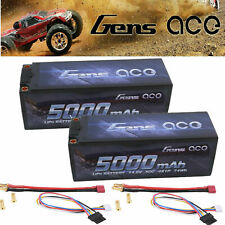 2 Gens Ace 5000mAh 50C 14.8V 4S 5mm-bullet Lipo Battery w/Deans adapter GAB00472
