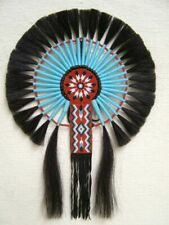 Native American Made Black Horsehair Bustle Cert of Authenticity