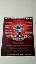 MICHAEL JACKSON IMMORTAL WORLD TOUR   RARE ORIGINAL PRINT PROMO POSTER AD