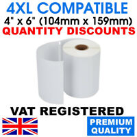 "104x159mm (4""x6"") WHITE LABEL ROLLS COMPATIBLE WITH DYMO 4XL LABELWRITER / SEIKO"