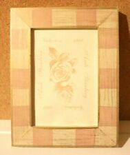 """vintage Andi Steinberg """"shabby chic"""" Hand Painted Picture Frame Fits 3""""x5"""" Photo"""