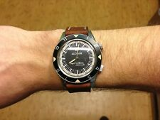 Jaeger-LeCoultre  deep sea alarm chocolate brown leather strap Cheergiant strap