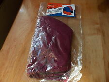 HELMET COVER-UPS ONE SIZE FITS ALL NYLON/SPANDEX BURGANDY